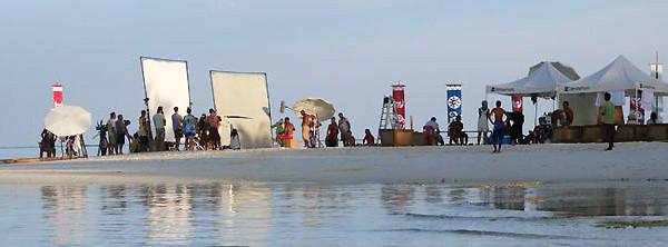 Film production shooting filming Maldives