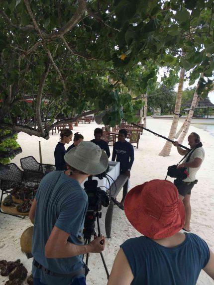 Filming in Maldives